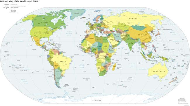 political-world-map
